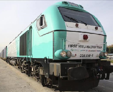 Yixinou-route:the-first-freight-train-linking-China-and-Spain